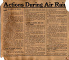 Military Air Raid Instructions.