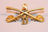 8th Cavalry Troop D Collar Badge