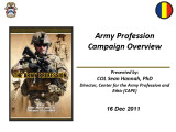 Army profession campaign overview.