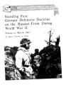 Standing fast : German defensive doctrine on the Russian front during World War II: prewar to...