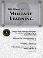 Journal of military learning, April 2017.