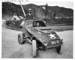 Captured Russian-made light armored car.