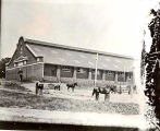 Gruber gym as a riding hall approximately 1930.