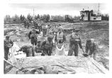 1952 Flood: 76th Field Artillery Battery.