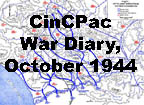 Commander in Chief war diary for the month of October 1944.