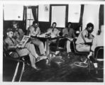 Soldiers relaxing in their club.