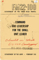 FM 22-100 1953 (Obsolete) : Command and leadership for the small unit leader.